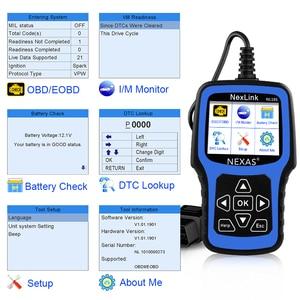 Image 3 - NEXAS NL101 OBD2 Ô Tô Máy Quét Động Cơ Vape Pin OBDII Máy Quét PK CR3001 ELM327 Chuyên Nghiệp EOBD OBD Xe Công Cụ Chẩn Đoán
