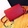 Мода женщины твердые искусственная кожа сумки высокое качество цепь сумка леди ElegantMessenger конфеты цвет кроссбоди сумки