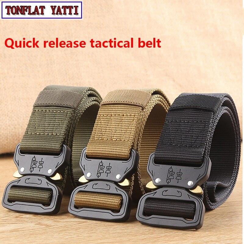 2018WAT Combat Heavy Duty Knock Off Tactical Belt Men US Soldier Military Equipment Army Belts Sturdy Hook Nylon Waistband 3.8cm