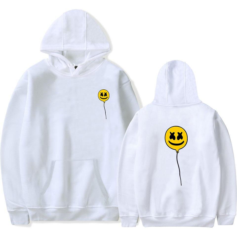 DJ Marshmello Hooded Fleece Men's Hoodies and Sweatshirts Oversized For Winter with Pocket Hip Hop Hoodie Men Brand Streetwear