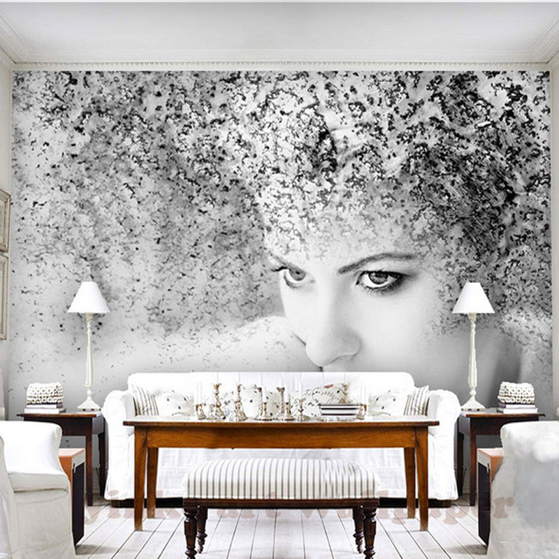 Custom Wallpaper 3D Art Abstract Hair Beauty Oil Painting