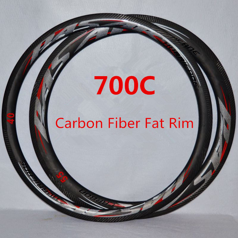 Road Bike 700C Carbon Knife Fat Rim Carbon Fiber Wheel Bicycle Rim 20/24hole Presta Valve Anti-cursorRoad Bike 700C Carbon Knife Fat Rim Carbon Fiber Wheel Bicycle Rim 20/24hole Presta Valve Anti-cursor