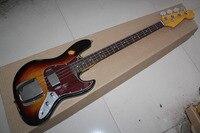 Kostenloser versand Hochwertige körper mahagoni korpus 4 string FD Signature Jazz Bass alten e-gitarre @ 31