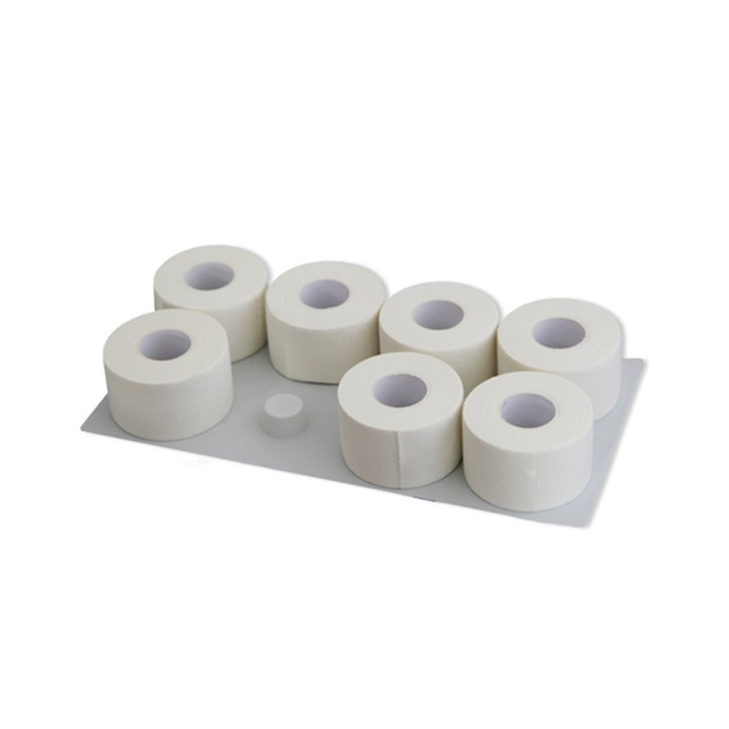 6 Rolls 10m 25mm/38mm/50mm White Sports Tape Athletic Injury Fixed No Elasticity Protection And Wrapping Strapping Taping