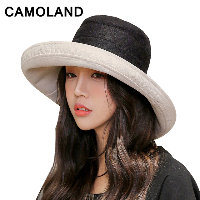7f2045afcfa Cotton Fashion Bucket Hats Solid Panama Summer Fishing Hat Female Caps Fine  grid hat UV Protection Sun Hat Pink Gray Black Red
