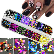 1Set Ultrathin Sequins Nail Art Glitter Mini Paillette Colorful Round 3d Nail Decorations Mixed Size Manicure Accessories BEP cheap Nail Glitter Ur Beautiful glitter powder New Arrivial 100 Brand new Free Shipping nail sequins 12 colors mixed Holographic pigment
