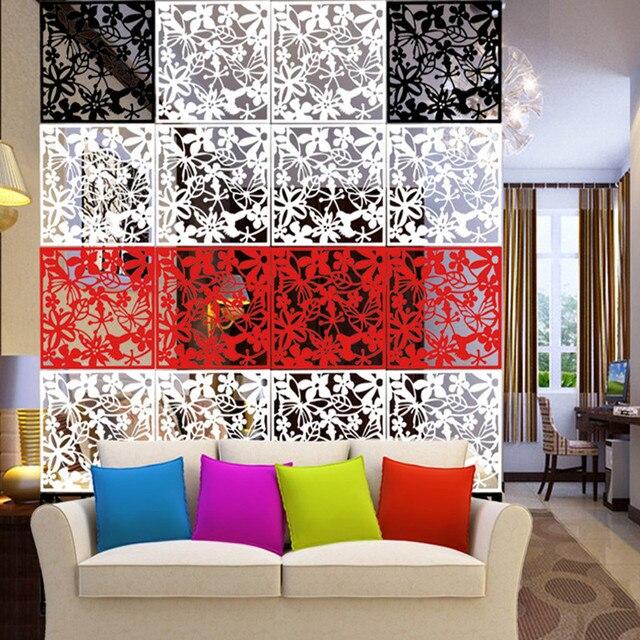 8 pièces plastique bricolage décoration murale salon PVC rideaux TV ...