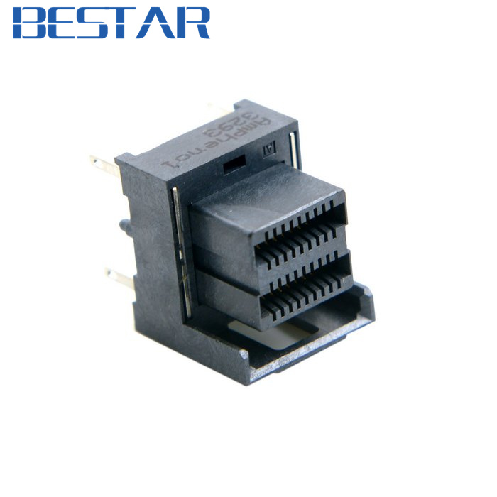 Mini SAS HD High Density SFF-8643 Female Socket Receptacle connector Board Mount Vertical DIP SMT Type Amphenol 10pcs mini hdmi 1 4 type c female socket receptacle board mount smt type with pcb for hdtv diy cable