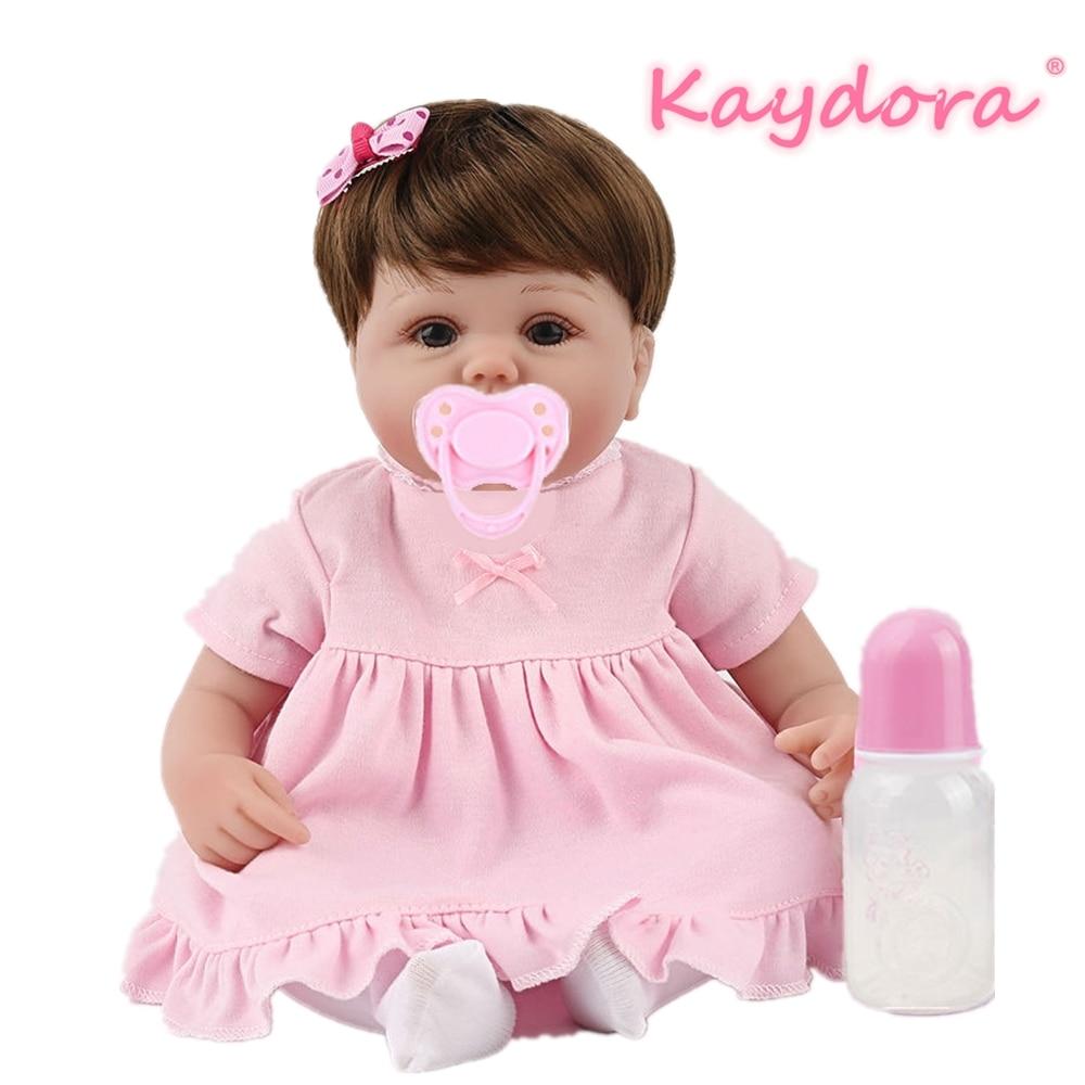 Kaydora 16 pouces Reborn bébé poupée Lucy silicone souple sûr vinyle mignon bebe noël cadeau anniversaire lol jouets réaliste belle