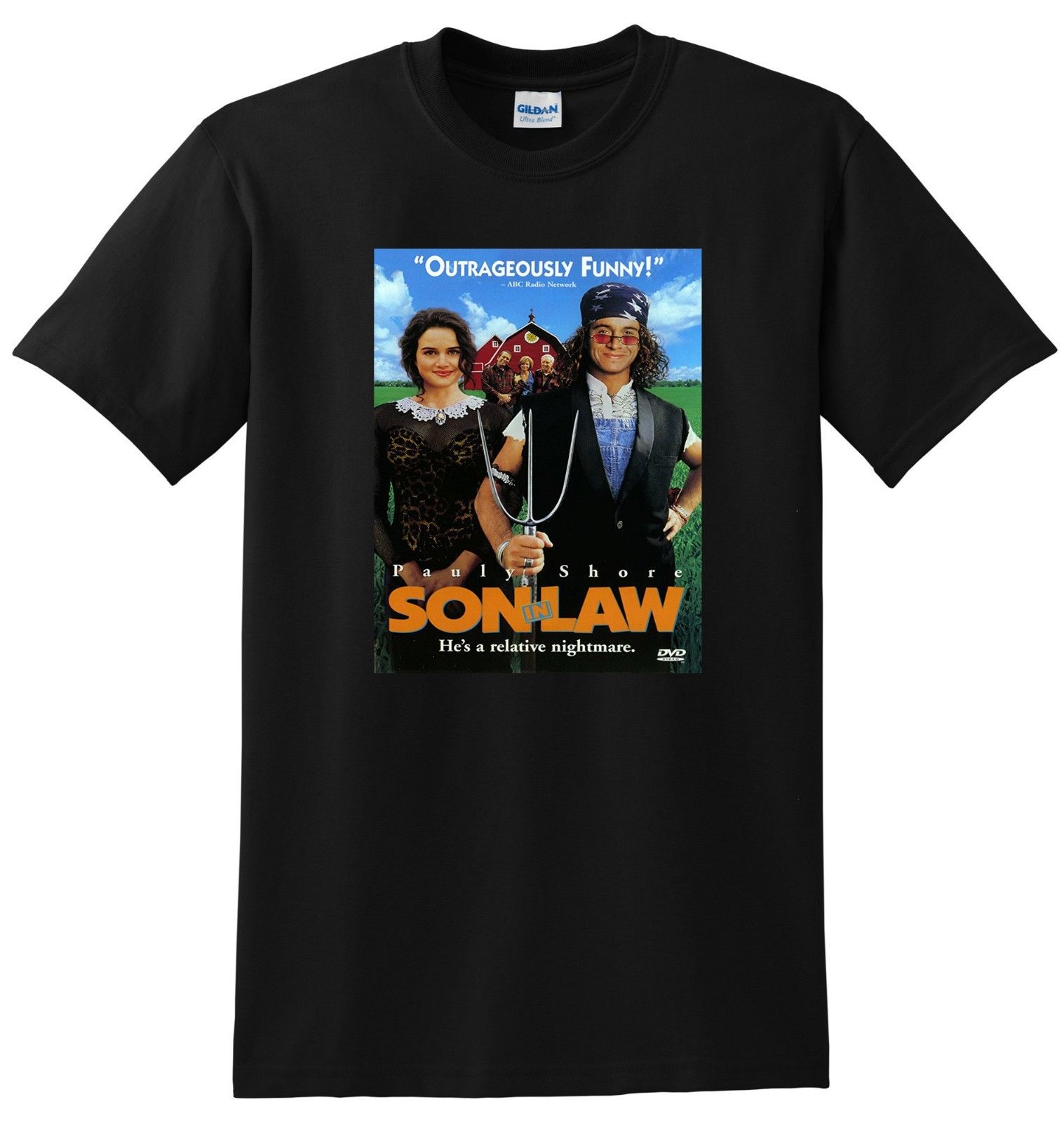 SON IN LAW T SHIRT Pauly Shore Movie Poster Tee S-3XL Tops T Shirt Homme Teenage Natural Cotton Printed Top Tee image
