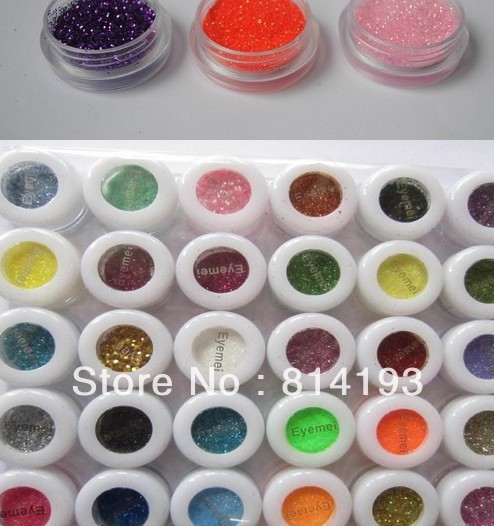 Promotion! 30 Colors Eye Shadow Powder Coarse glitter Pigment Colorful Mineral Eyeshadow MakeMealup BEMLP 06W