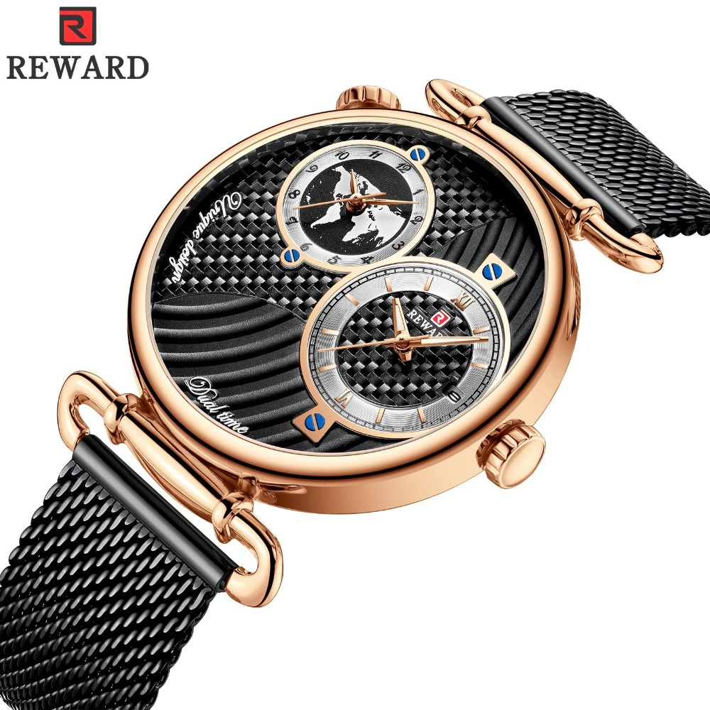 REWARD Dual Time Top Brand Luxury Business Watch Men Waterproof Mens Watch Fashion Japanese Movement Clock Montre HommeREWARD Dual Time Top Brand Luxury Business Watch Men Waterproof Mens Watch Fashion Japanese Movement Clock Montre Homme