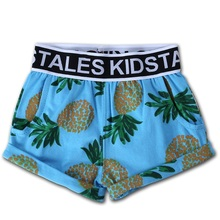 Crianças meninas meninos calças curtas infantis de verão dos desenhos  animados cactus abacaxi carro cross calças shorts calças d. e6288427dc87c