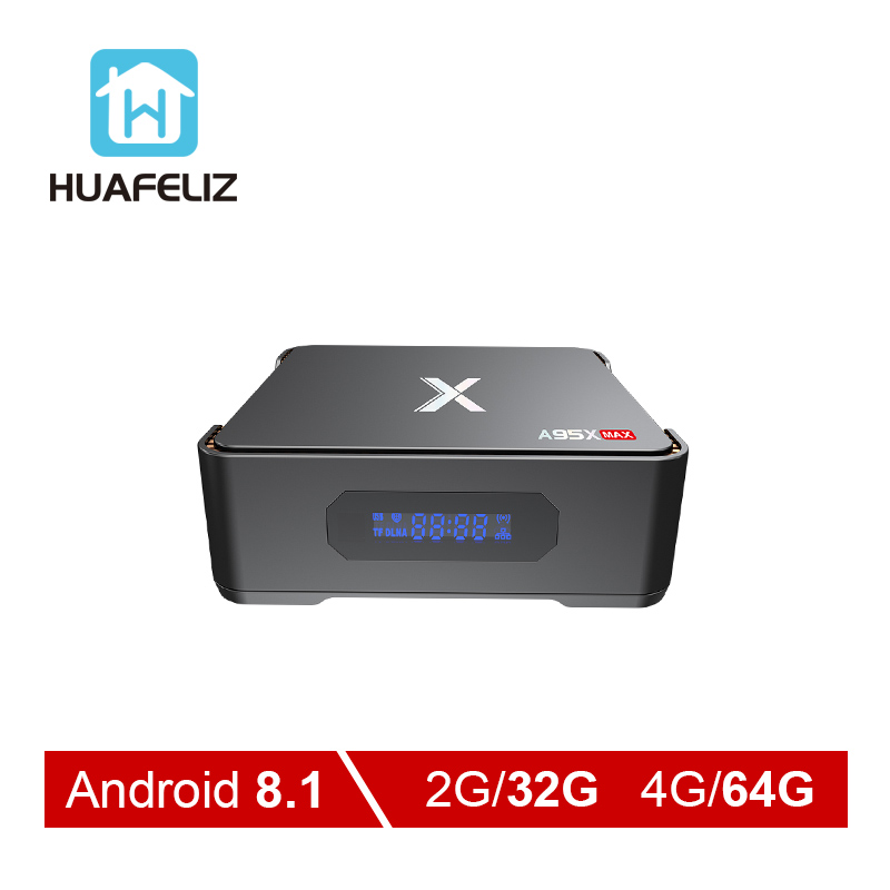 A95X MAX Amlogic S905X2 4GB RAM 64GB ROM Video Recording TV Box Android 8 1 QuadCore