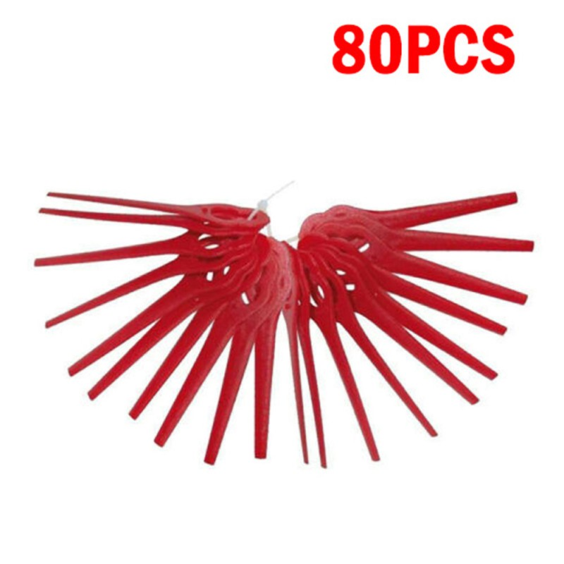 100PCS Trimmer Strimmer Plastic Blades For Florabest Grass Trimmer Brushcutter