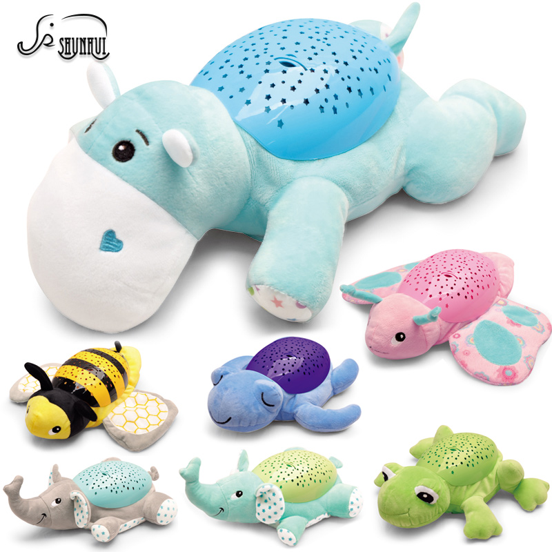 Just Kids Projection Toys Cartoon Animal Lighting Music Hypnotic Educational Toy Baby Cartoon Music Starry Sky Toys Novelty & Gag Toys