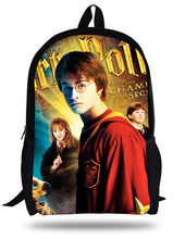 Newest POP  Harry Potter 3D Design Printing Children School Bags Boys Teenage Girls Casual Daily Backpacks