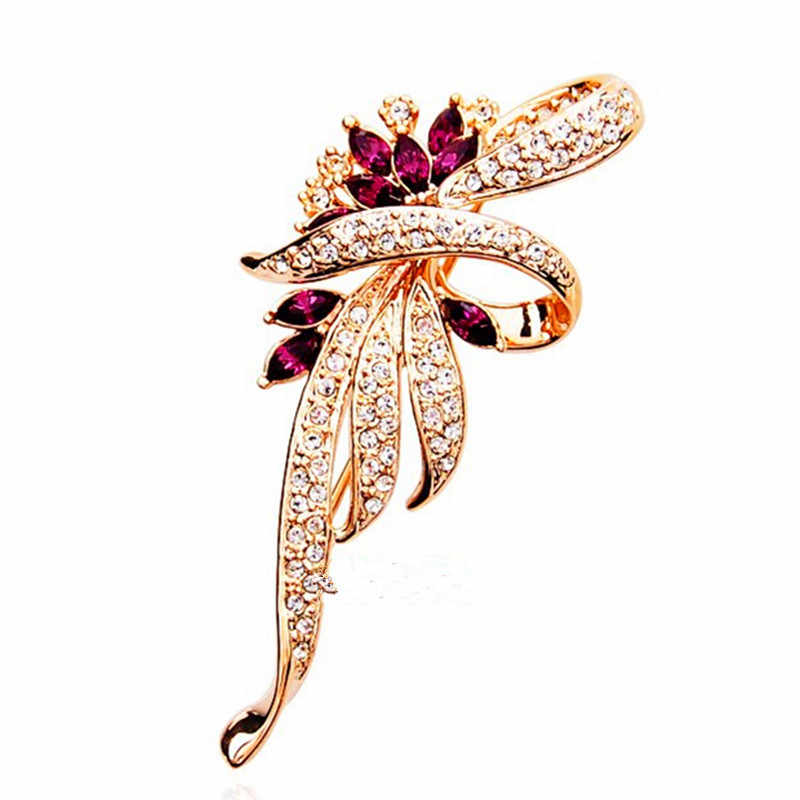 2019 gorąca sprzedaż kryształowe broszki dla kobiet nowa moda retro kryształowe broszki szpilki do ubrań biżuteria dla kobiet w sprzedaży hurtowej