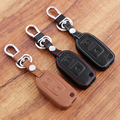 Car styling , leather cover wallet key remote case 2 Button For VW Amarok Polo Golf MK4 MK5 Bora Jetta Skoda Seat Altea Alhambra