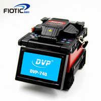 FTTH máquina de empalme de soldadura de fibra óptica multilingüe automática DVP-740 empalme de fusión de fibra óptica soldadura rápida