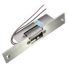 Нержавеющая дверь 12 В DC безопасный не узкий тип двери электрический замок удара для контроля доступа силовые замки безопасности безопасно