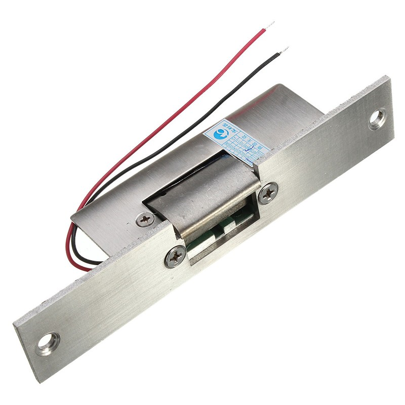 Stainless Door 12V DC Fail Safe NO Narrow-type Door Electric Strike Lock For Access Control Power Locks Security Safely