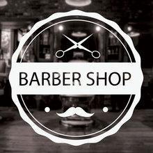 Barbershop Sign Haircuts and Shaves Vinyl Wall Decal Sticker Barber Shop Decor Murals Art Design Window Men Hair Logo 3W14