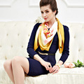 110cm Flora Bloom Grass green Elegant Pure silk wrap Women's  big Square Silk Scarf  crepe satin plain square silk scarves