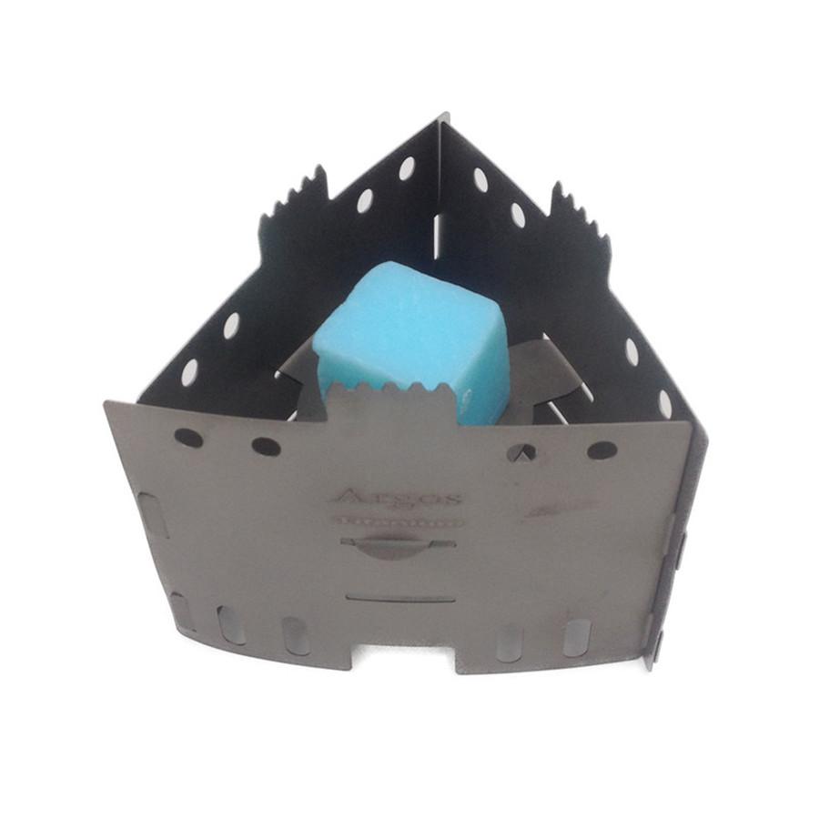Prix pour ArgosTitanium Pliant Pot Stand avec Plateau Réchaud À Alcool Solide Poêle À Combustible Ultralight Titanium Poêle De Poche Multi-Poêle À Combustible