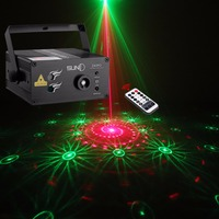 SUNY 40 RG Patterns Laser Light Blue LED Stage Light Sound Activated Gobo Projector Show for Club Bar DJ Disco Home Party(Z40RG)