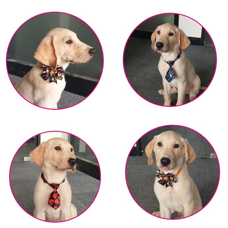 Image 3 - 30 sztuk akcesoria dla zwierząt domowych Halloween wakacje zwierzęta domowe są mucha dla psa krawaty regulowany krawat obroża dla szczeniaka łuk krawat kot produkt dla psa muszkiAkcesoria dla psówDom i ogród -