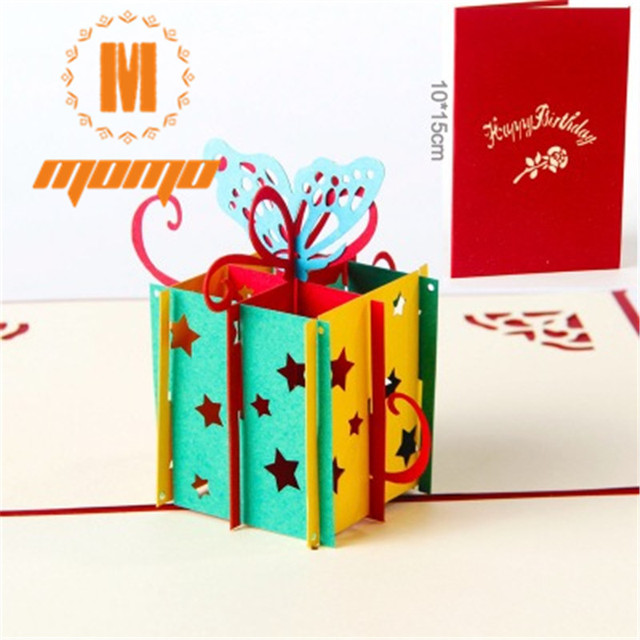 Free Shipping Happy Birthday Gift Box Butterfly Handmade Creative