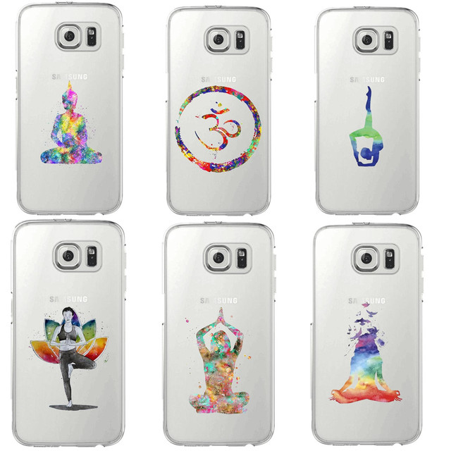 promo code 502f0 a4966 US $2.07 39% OFF|Watercolor Prince Cat Yoga sports girl Transparent Soft  silicone TPUPhone Case Cover For Samsung Galaxy S5 S6 S7 Edge S8 S9 Plus-in  ...