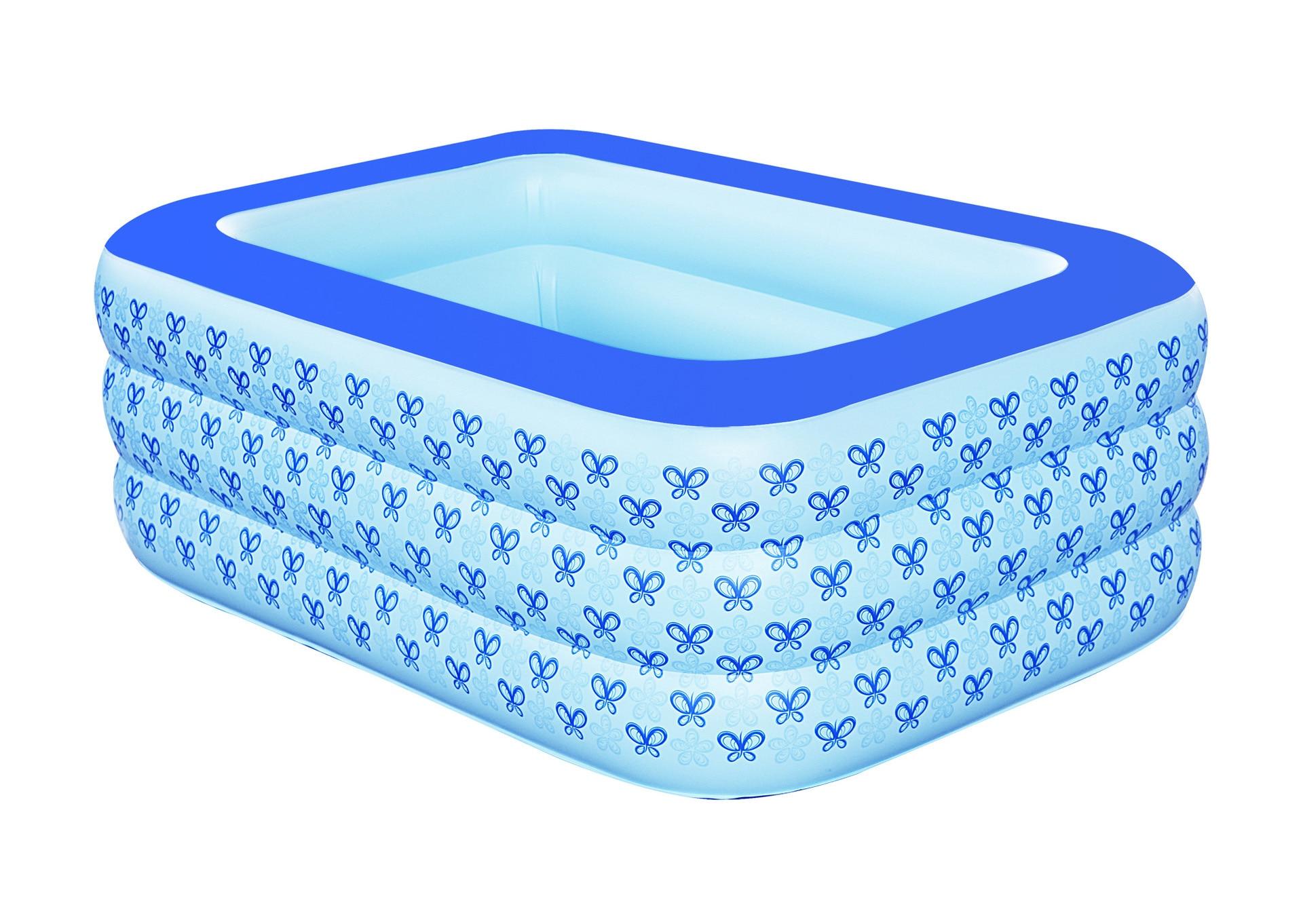 Nouvelle famille gonflable baignoire épaississement isolation bébé piscine de bain baril lavabo, en plastique seau pliant bain baril