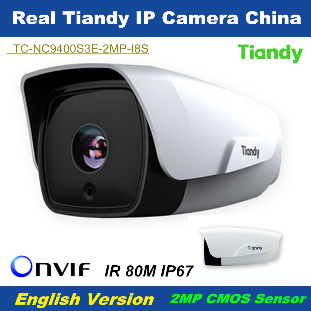 2016 Newest Arrival Tiandy 2MP IP Camera 1080P <font><b>H</b></font>.264 IR distance 80m Waterproof IP67 Outdoor CCTV Security Camera Support Onvif
