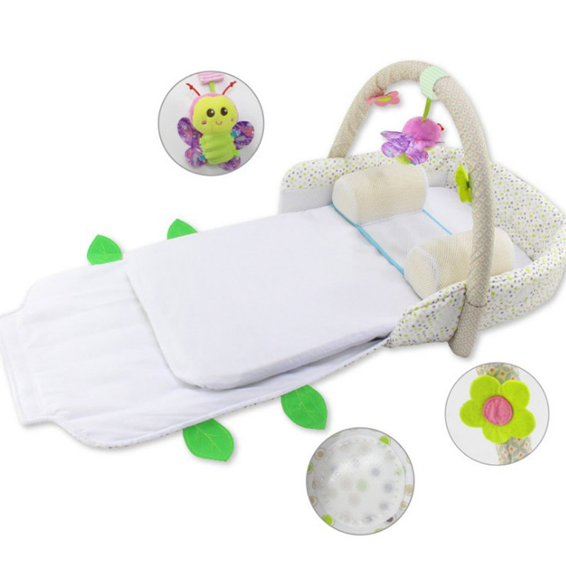 Portable Baby Crib Nursery Outdoor Travel Folding Bed Infant Toddler Cradle Storage Bag BM88 2in1 baby travel crib can be mummy bag protable fold travel baby bed