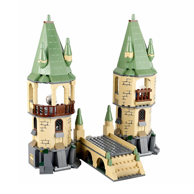 New Harri Hogwar Castle Defense War Blocks Bricks Compatible Legoing Magic Potters 4867 Model Building Toys Children