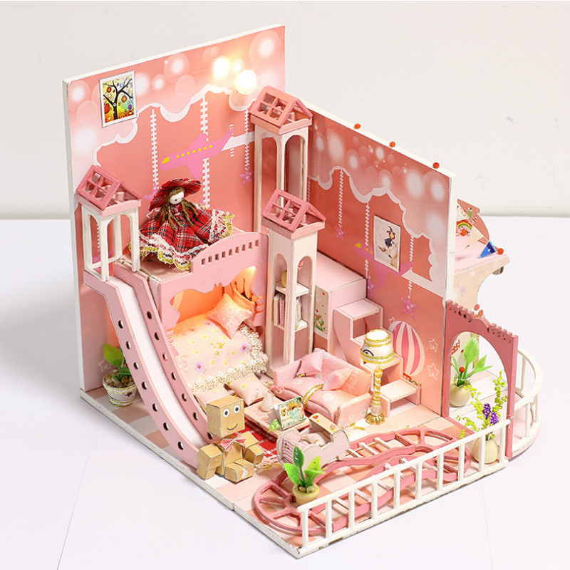 To Win Warm Praise From Customers Contemplative New Model Diy Handmade Model House With Dustproof Cover Creative Holiday Gift Dream Of Childhood