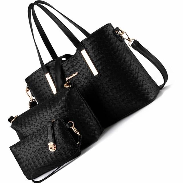 f011494ce160 fashion women handbags 3 pcs composite brand ladies large capacity crossbody  big hand bag portable women messenger shoulder bags