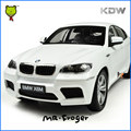 Mr. froger kdw 1:18 escala diecast cars bm x6 m power de colección modelo cars aleación sports cars vehículos de metal blanco de alta calidad