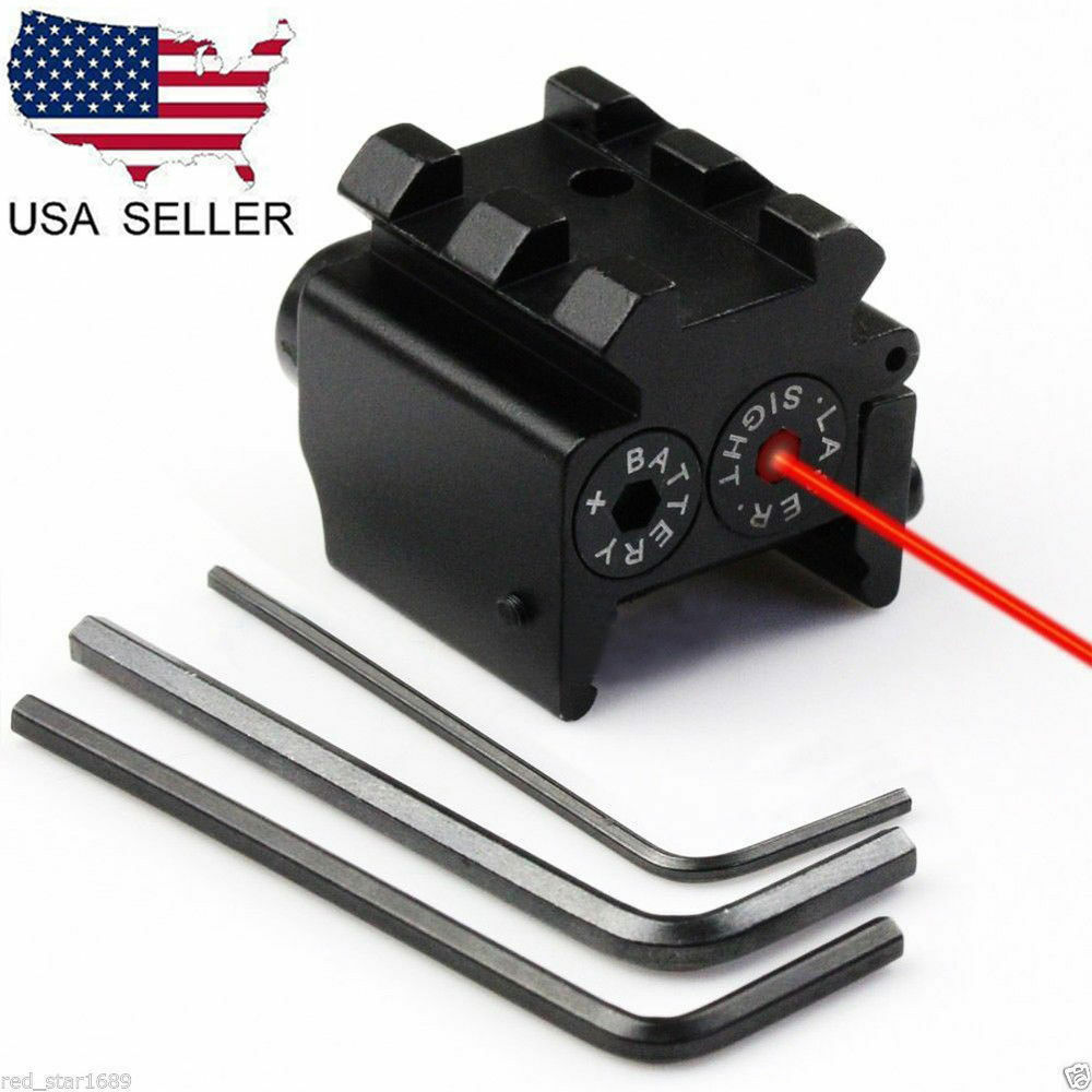 US Mini Adjustable Compact Red Dot Laser Sight Fit For Glock 17 19 With 20 Mm Rail Mount Of Hunting Accessories
