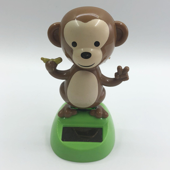 Solar Power Monkey Figurine for Car Home Decoration Swing Animal Toy Gifts figurine