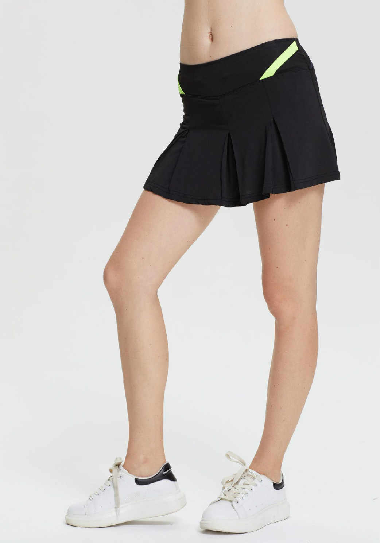 bc2b56d79 ... Women Girls Pleated Tennis Skirt With shorts High Waisted Tenis Mujer  Skort Sport Skirt Plus Size