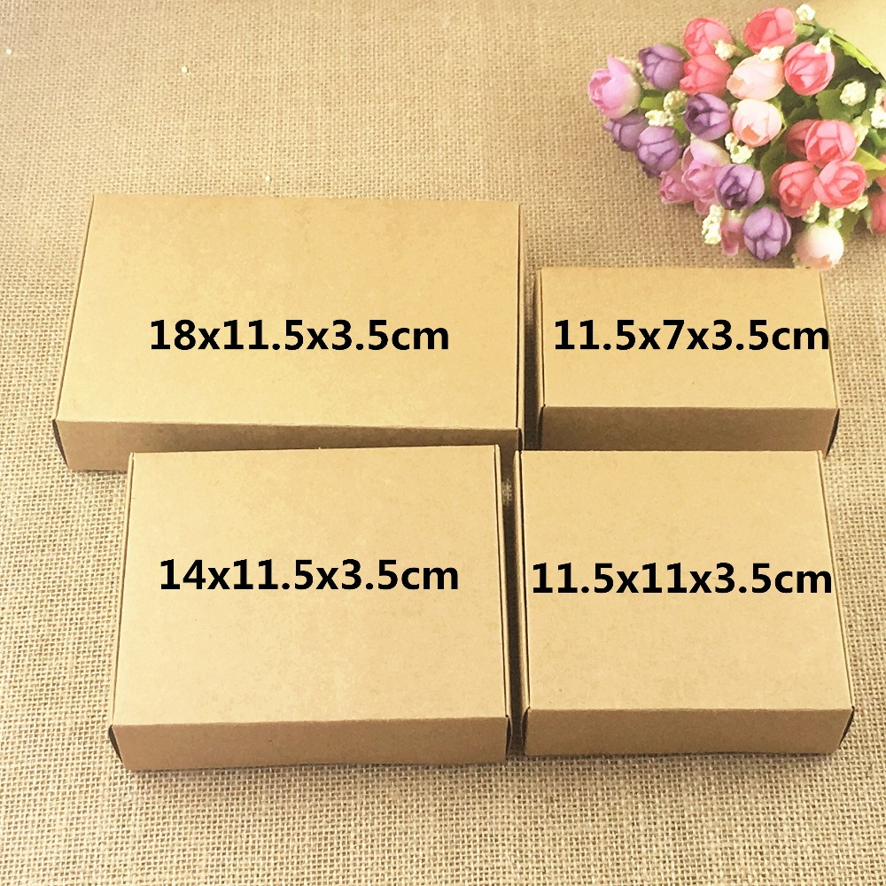 50pcs/lot Kraft  Paper Gift Packing Boxes Blank Soap Box,Jewelry/ Wedding/Party /Candy/carft/accessories Storage Box