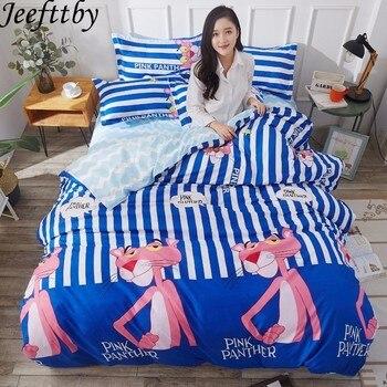 Jeefttby المنسوجات المنزلية الملك الحجم الفراش مجموعات 3 قطعة الوردي النمر ملكة حجم حاف طقم أغطية سادات أغطية سرير السرير الملابس