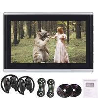 Пара подголовников 10,1 дюймов автомобильные мониторы Бесплатная DVD плеер Twin экраны USB/SD 32 бит игры DVD подголовник Поддержка AV IN OUT/HDMI