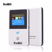 KuWFi 4G Wireless Router Unlocked 3G/4G FDD/TDD Wifi Mobile Hotsport  Protable Car With Sim Card Slot