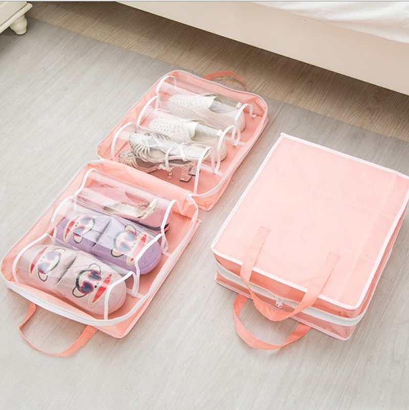 Shoes bag travel portable handle waterproof shoes tote pouch shoe organizer underwear bra socks storage bag women men shoes case