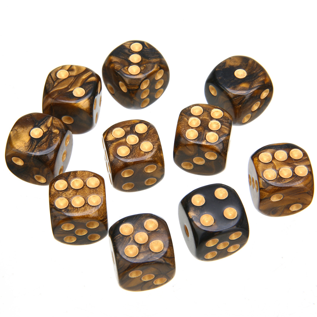 Brand New 10Pcs/set Mixed Colore Retro Dice 16mm Six Sided Game Dice Casino Craps Games Dice Set Droshipping
