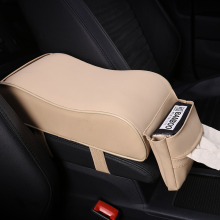 KKYSYELVA Car Universal Armrest Box Mats Interior Pad Leather Styling Auto Accessories